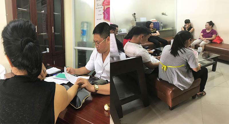 Trung tâm đón tiếp khá nhiều bệnh nhân đến thăm khám phụ khoa mỗi ngày