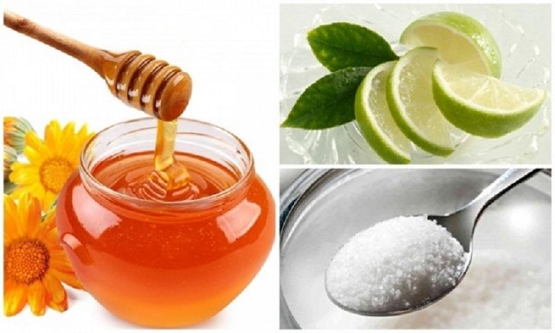 Mẹo dân gian kết hợp đường, chanh và mật ong sẽ giúp bị triệt lông chân nhanh chóng
