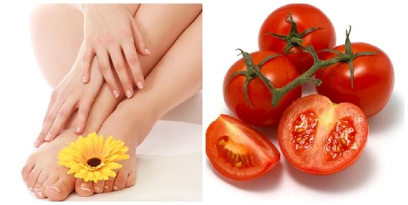 Cà chua là cách trị lông chân tại nhà đơn giản, hiệu quả cao