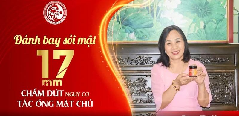 Cô Hoa đã chữa sỏi thành công với bài thuốc Nhất Nam Tiêu Thạch Khang
