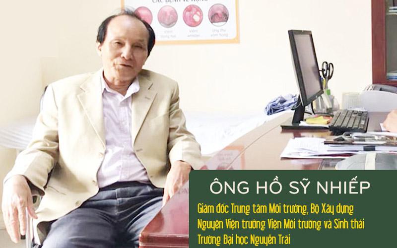 Ông Hồ Sỹ Nhiếp - Nguyên Viện trưởng Viện Môi trường và Sinh thái - Trường Đại học Nguyễn Trãi