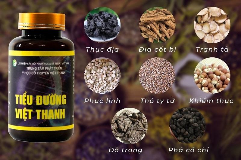 Thành phần của thuốc trị tiểu đường Việt Thanh