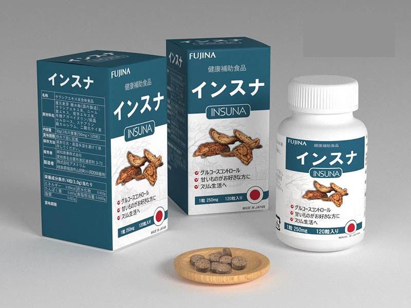 Mẫu mã của loại thuốc giúp tăng đường huyết Insuna