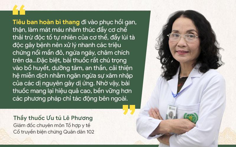 Bác sĩ Phương nói về cơ chế hoạt động của Tiêu ban hoàn bì thang