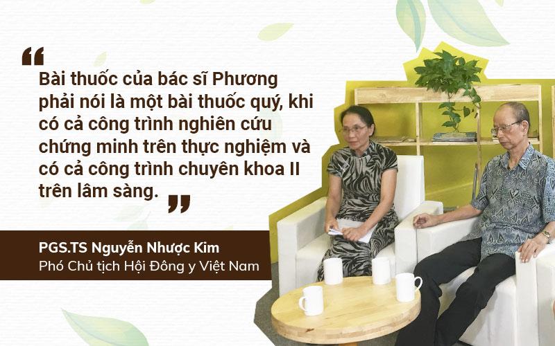 PGS.TS Nguyễn Nhược Kim nhận xét về bác sĩ Lê Phương