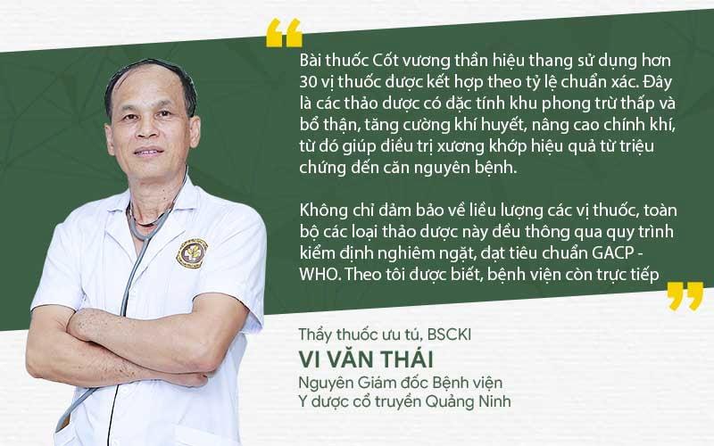 Thầy thuốc ưu tú Vi Văn Thái đánh giá về hiệu quả bài thuốc