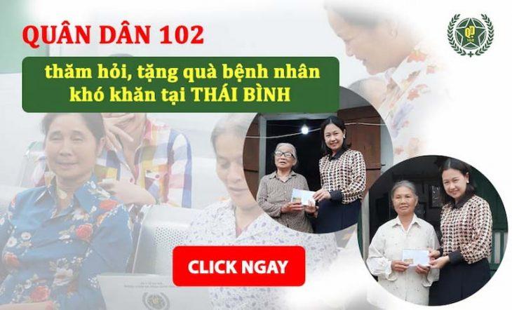 Chuyến thiện nguyện của Quân Dân 102 tại Kiến Xương - Thái Bình
