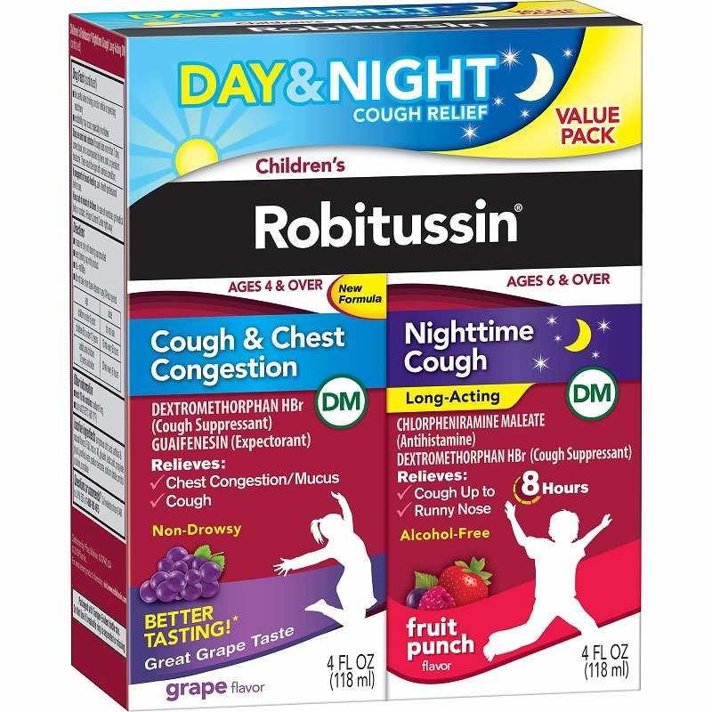 Thuốc trị ho của Mỹ cho người lớn Robitussin Child Cough & Chest