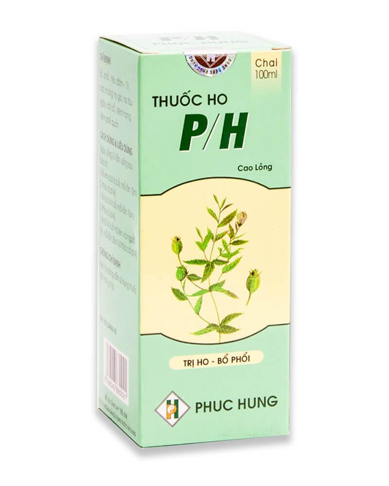 P/H là thuốc trị ho cho người lớn hiệu quả