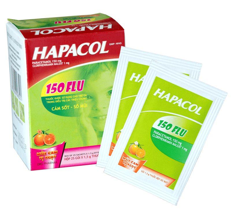 Hapacol 150mg Flu dạng bột giảm nhanh ho sổ mũi