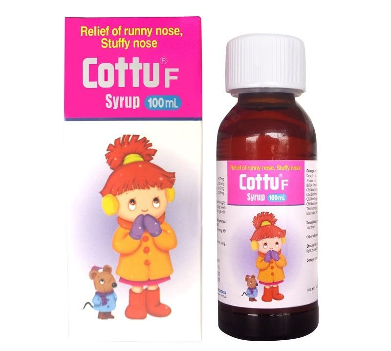 Sản phẩm siro Cottu F giúp bé giảm ho sổ mũi nhanh chóng