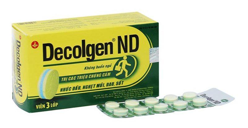 Decolgen ND - Thuốc ho và sổ mũi cho trẻ em