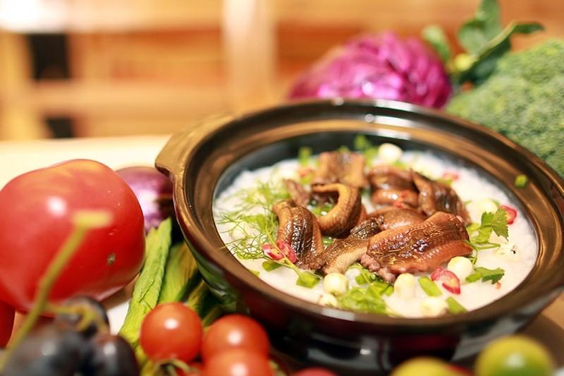 Cháo lươn là món ăn phù hợp cho bé bị ho