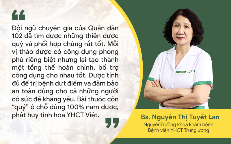 Bác sĩ Tuyết Lan đánh giá về bài thuốc trị mề đay Tiêu ban hoàn bì thang