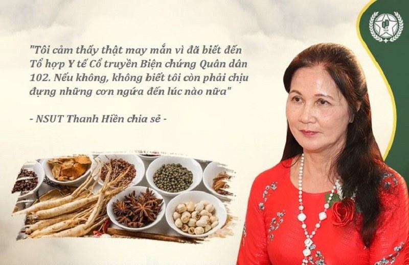 NSUT Thanh Hiền từng điều trị khỏi mề đay thành công nhờ bài thuốc Tiêu ban hoàn bì thang