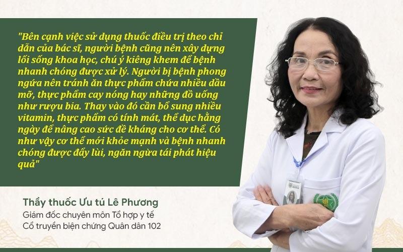 Bác sĩ Phương đưa ra lời khuyên dành cho bệnh nhân phong ngứa, mề đay