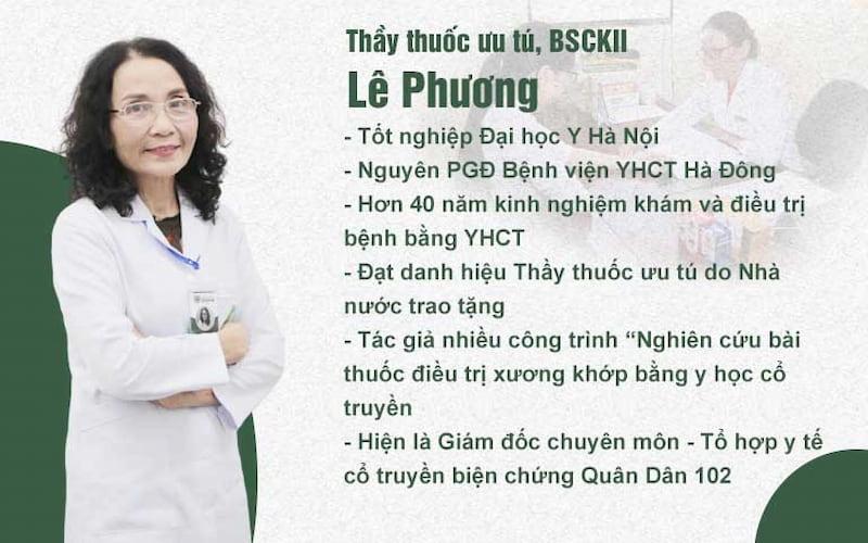 Bác sĩ Lê Phương - Một trong những bác sĩ chuyên khoa sẽ tham gia trao đổi trực tuyến với người bệnh