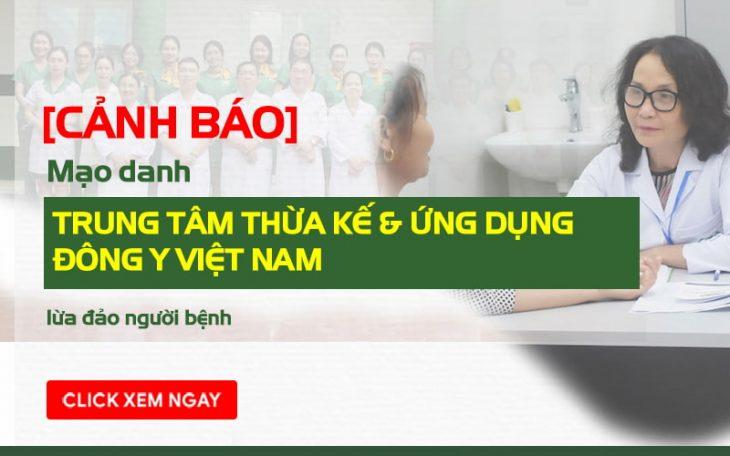 Mạo danh Trung tâm Thừa kế & Ứng dụng Đông y Việt Nam