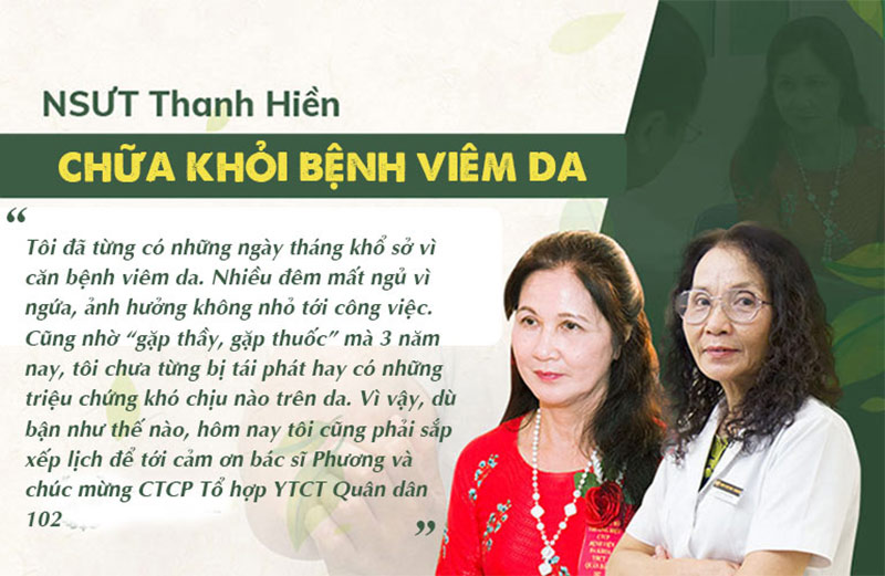 Nghệ sĩ Thanh Hiền chia sẻ kết quả điều trị viêm da của bản thân