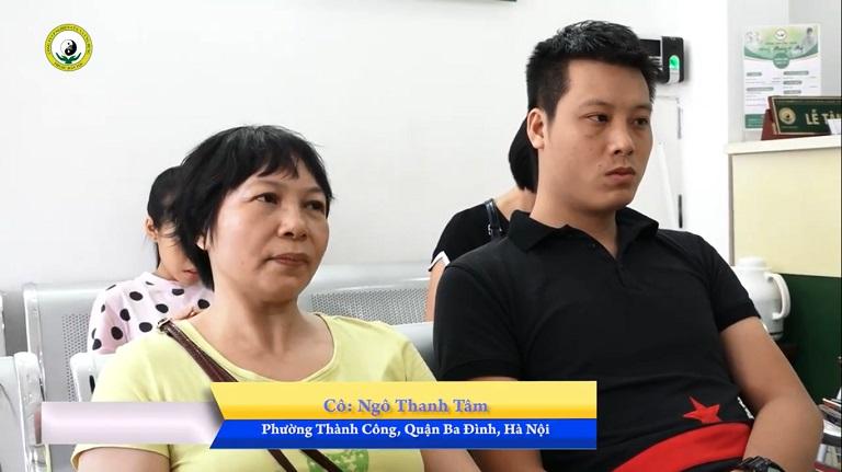 Bệnh nhân Ngô Thanh Tâm (Hà Nội) và con trai