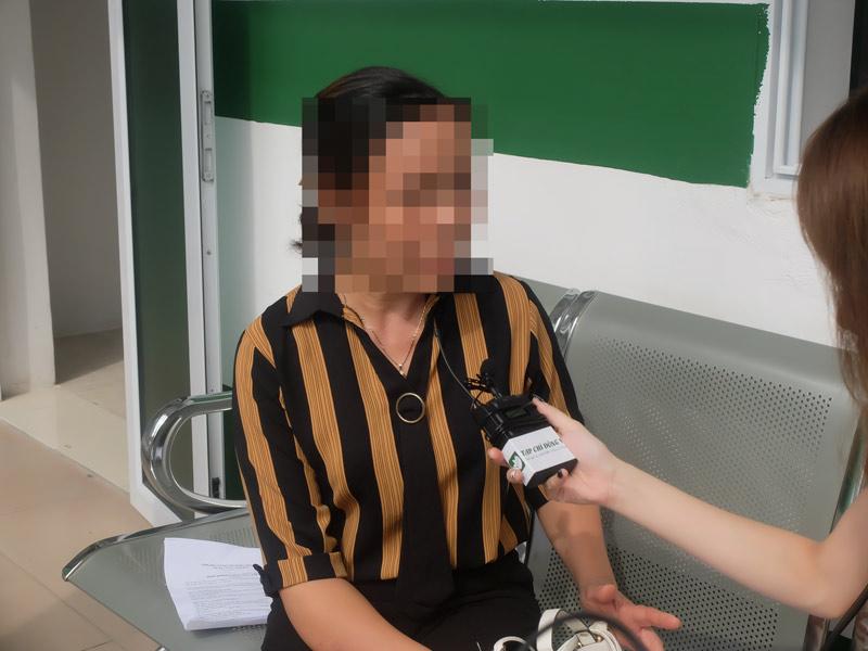 Cô Nguyễn Thị Bích chia sẻ với phóng viên