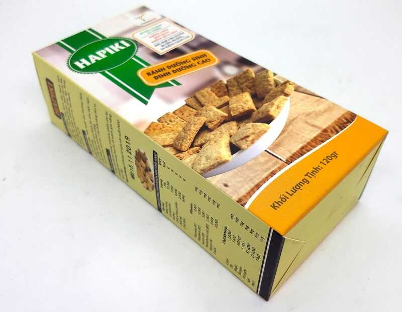 Bánh Hapiki chứa các chất dinh dưỡng từ gạo lứt mầm, các loại đậu và hạt