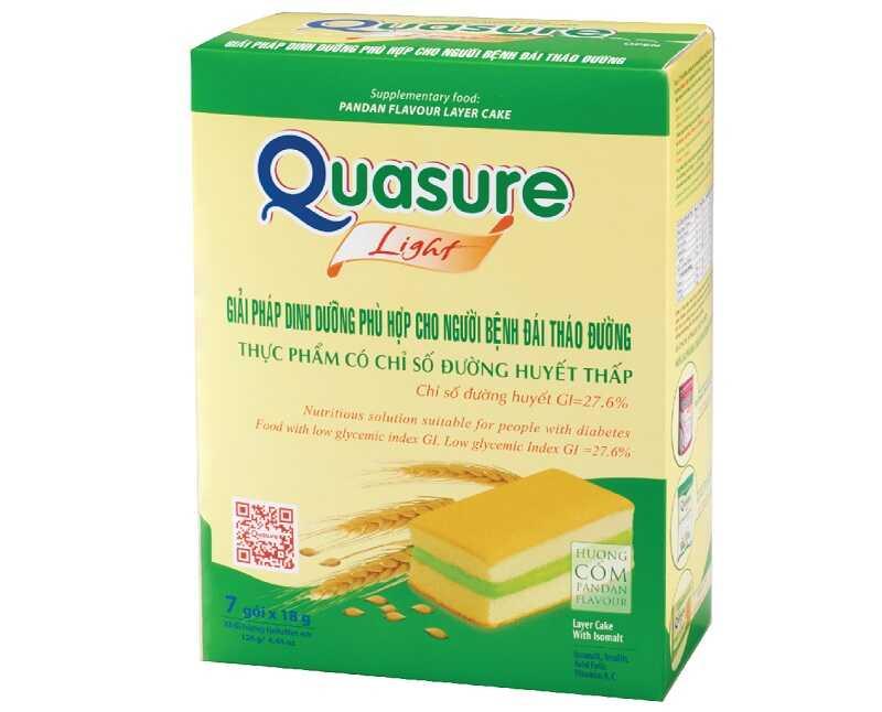 Bánh bông lan Quasure Light giúp kiểm soát đường huyết cực an toàn, hiệu quả
