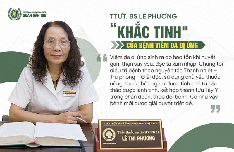 Bác sĩ Phương chia sẻ về nguyên lý điều trị bệnh viêm da dị ứng tại Quân dân 102