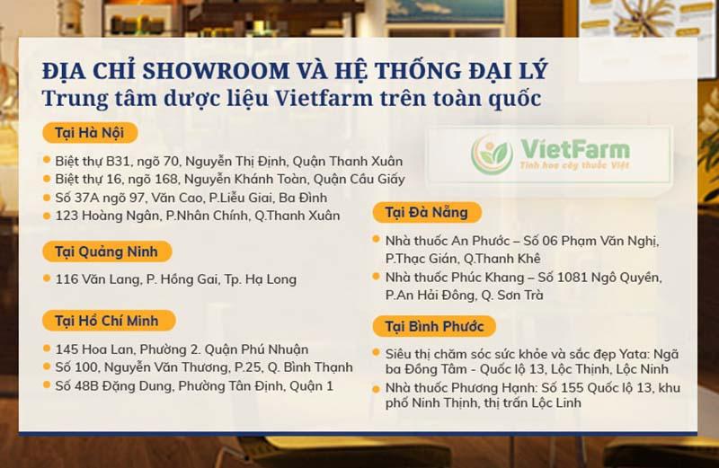 Hệ thống đại lý để tìm mua cao xuyên tâm liên Vietfarm