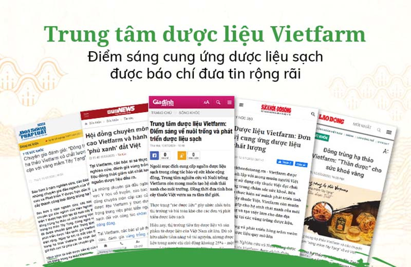 Báo chí đánh giá về Trung tâm dược liệu Vietfarm