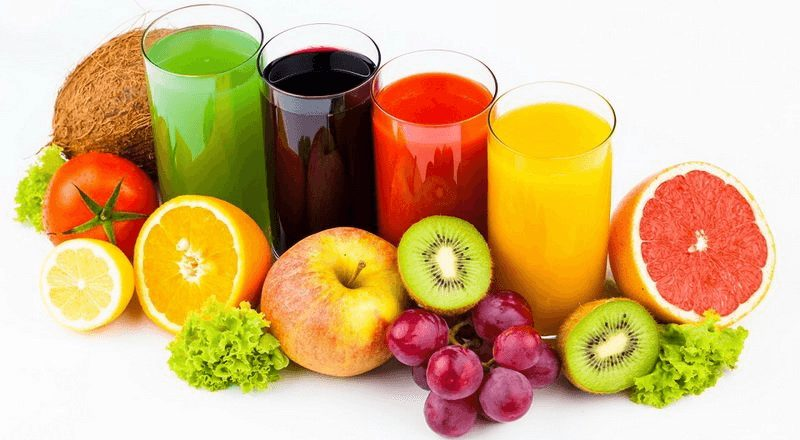 Tích cực sử dụng các loại nước trái cây để bổ sung nhiều chất dinh dưỡng cho cơ thể