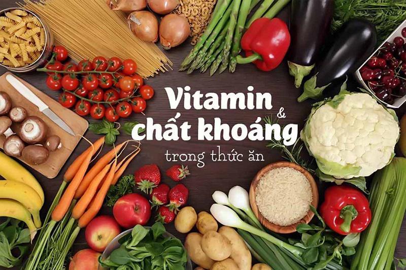 Người bệnh nên bổ sung nhóm thực phẩm giàu vitamin và khoáng chất