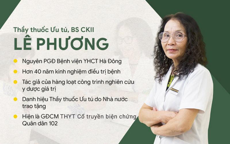Bác sĩ Lê Phương có hơn 40 năm kinh nghiệm khám, chữa bệnh bằng YHCT