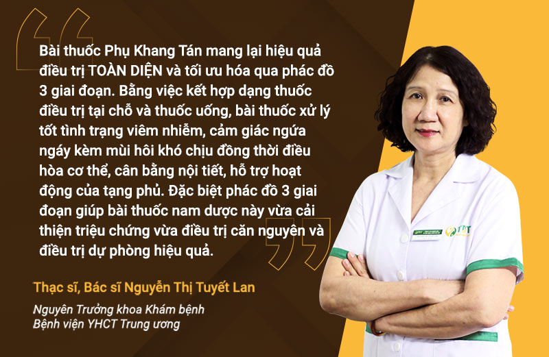 Bác sĩ Tuyết Lan đánh giá cao về bài thuốc Phụ Khang Tán
