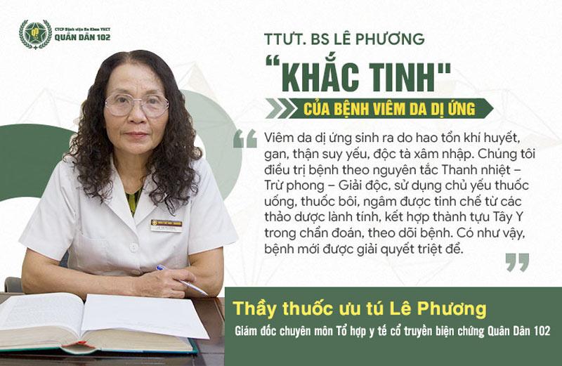 Bác sĩ Lê Phương chia sẻ về nguyên lý điều trị bệnh viêm da dị ứng tại Quân Dân 102