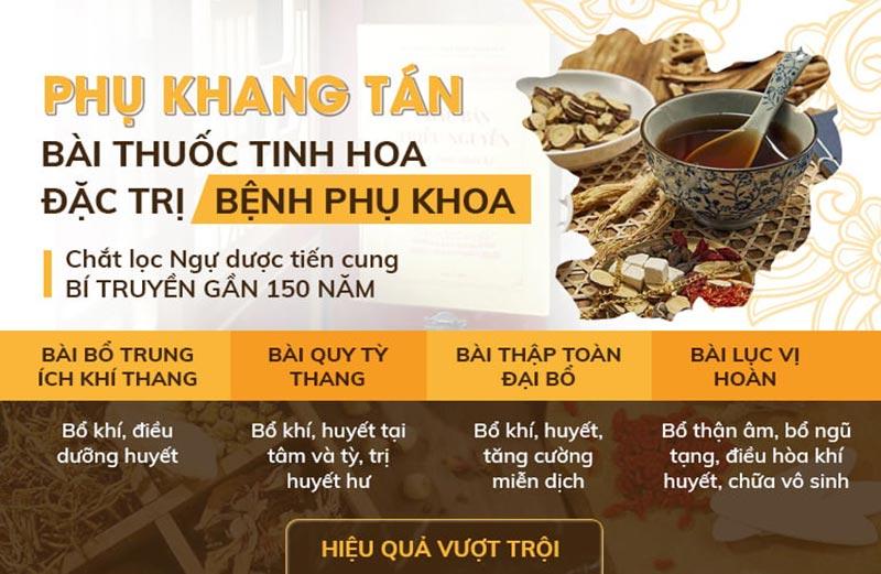Phụ Khang Tán được cải tiến theo nhiều bài thuốc quý trong Châu Bản Triều Nguyễn